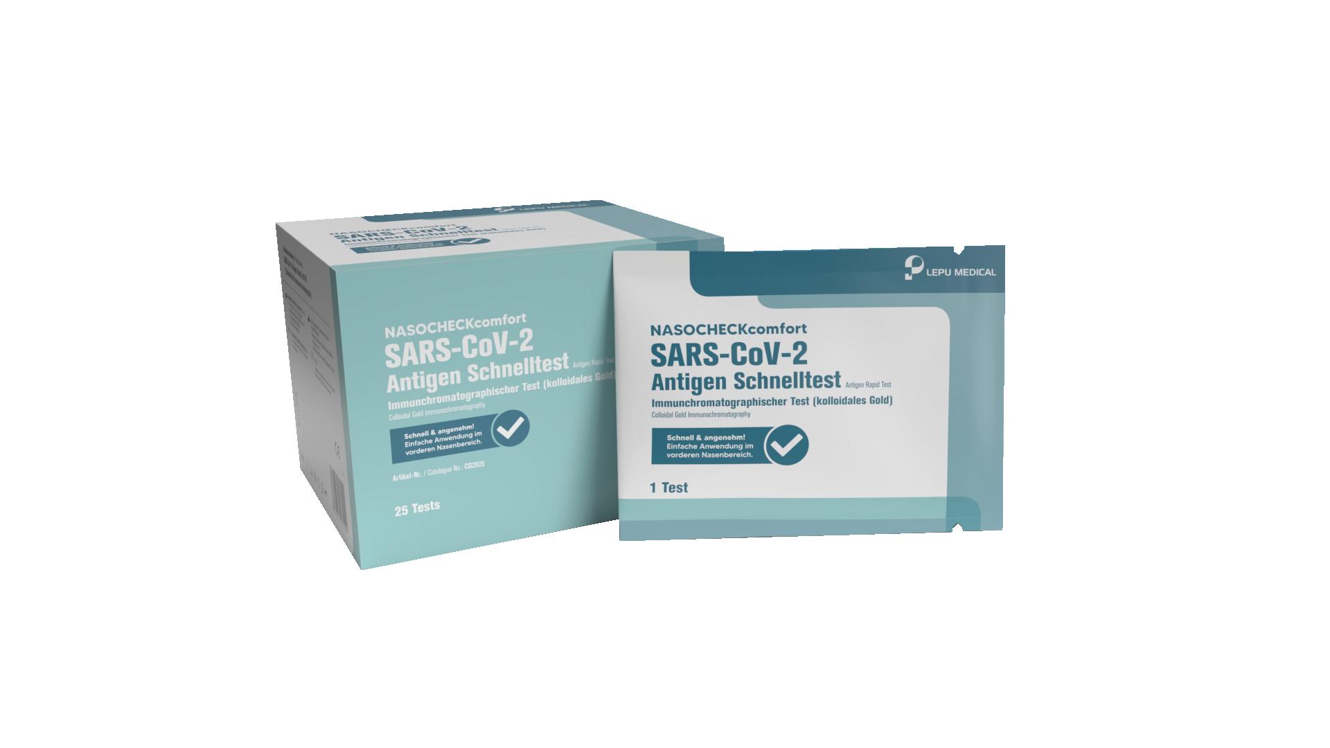 COVID - 19 AntiGen Schnelltest für Laien 25er Pack | LEPU Medical SARS-CoV-2