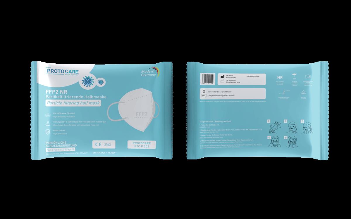 FFP2 NR Atemschutzmaske 1er Pack